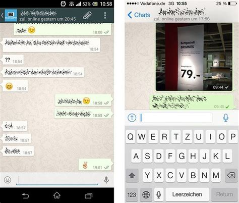 chat android whatsapp im design vergleich ios vs android androidpit