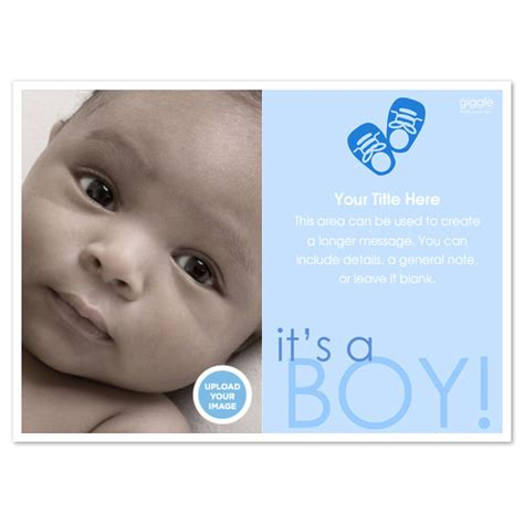 baby announcement template free it s a boy baby announcement invitations cards on