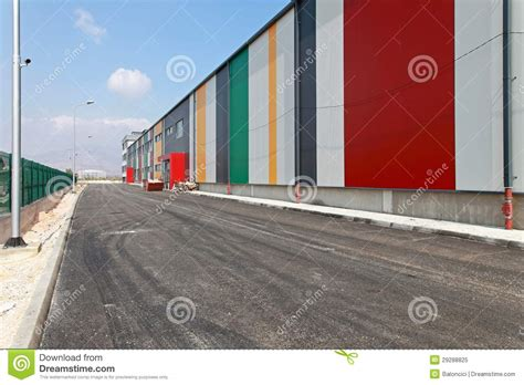 warehouse access road royalty free stock photo image