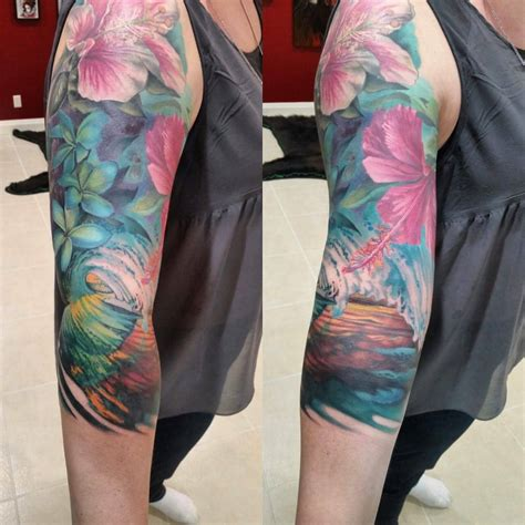 female arm sleeve tattoo designs half arm sleeve flower for creativefan