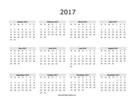 free printable yearly calendar templates 2017 one year calendar printable 2017 printable online calendar
