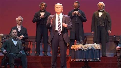 donald trump hall of presidents donald trump and the hall of presidents disney had no