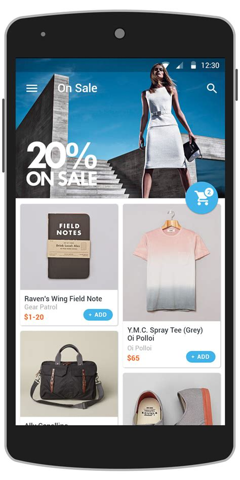 android templates for sale glam android app template