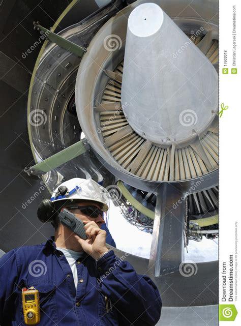 Turbine Engine Mechanic by Mechanic And Jet Engine Royalty Free Stock Photos Image