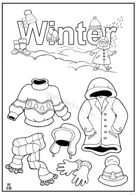 winter clothes coloring pages 01