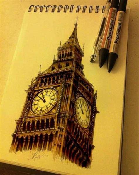 big sketchbook big ben drawing bound big ben and