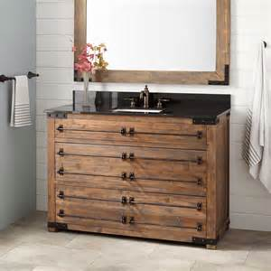 48 quot bonner reclaimed wood vanity for rectangular