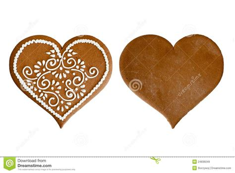 gingerbread heart royalty  stock images image