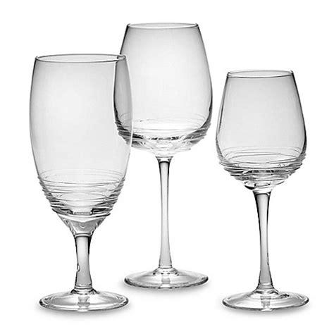 Glass Barware by Mikasa 174 Swirl Clear Glass Stemware Bed Bath Beyond