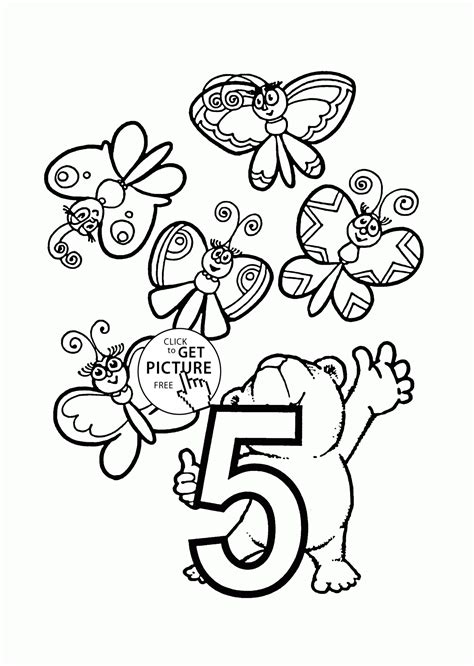 coloring pages with numbers for preschoolers number 5 coloring pages for preschoolers counting numbers