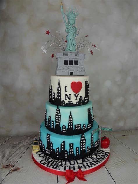 I love New York wedding cake   Mel's Amazing Cakes