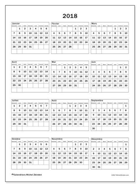 Calendrier 2018 Ontario Calendriers 2018 Ds