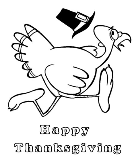 running turkey coloring page give thanks coloring pages coloring home