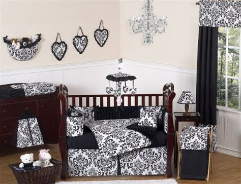 Black And White Damask Crib Bedding Black And White Damask Bedding By Marika