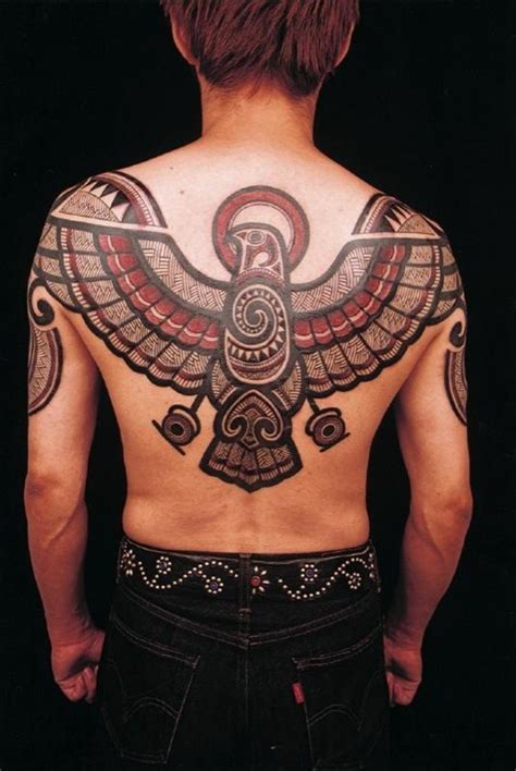 aztec eagle tattoo 50 eagle tattoos for back with meanings