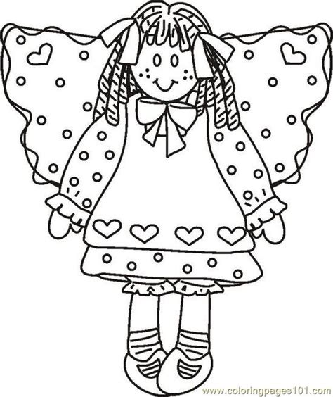 rag doll coloring page rags coloring pages