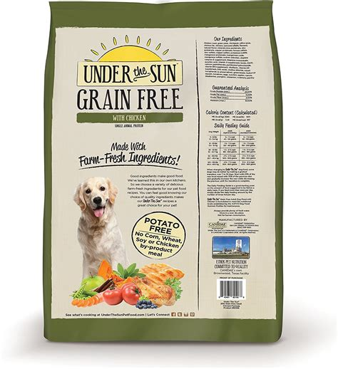 the sun puppy food the sun grain free chicken recipe food 4 lb bag chewy