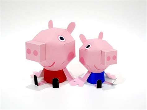 Pig Papercraft - 1000 images about pepa pig on removable wall