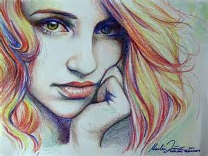 drawings with color crayon drawing nose