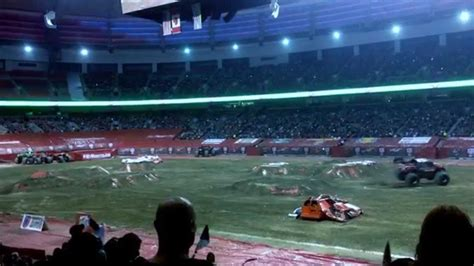 monster truck show vancouver 2015 monster truck backflip vancouver 2015 youtube