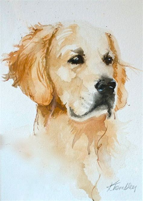 golden retriever print painting