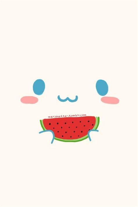 cute wallpaper watermelon kawaii eating watermelon and watermelon on pinterest