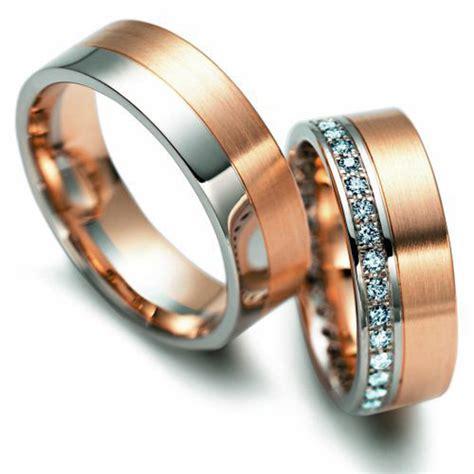 Eheringe Im341 Mit 11 Diamanten Rosegold Und Weissgold Bicolor Poliert by Eheringe Rosegold Bappa Info
