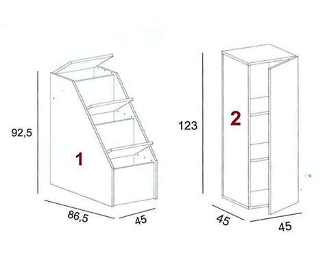 scalette per letti a scaletta 4 gradini per letto soppalco