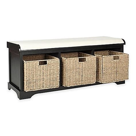 buy storage bench buy safavieh lonan storage bench in black white from bed