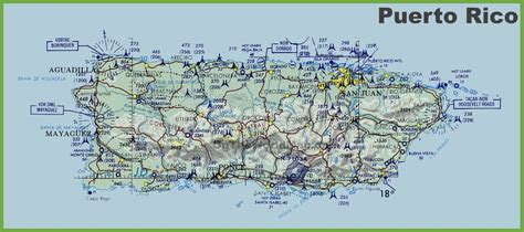 printable puerto rico road map puerto rico topographic map map