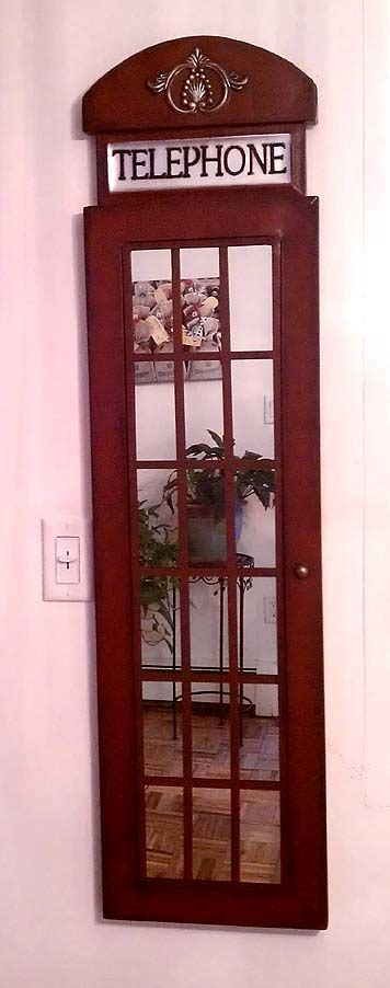 homegoods red telephone booth mirror uk home decor