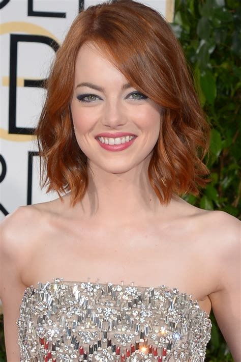 emma stone bob the best celebrity bobs and lobs hairstyles hair world