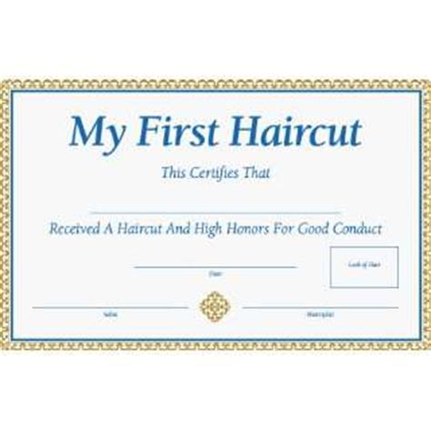 pin first haircut certificate on pinterest