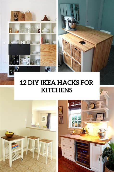 Kitchen Storage Island Cart 12 functional and smart diy ikea hacks for kitchens
