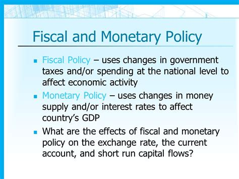 monetary policy vs fiscal policy fiscal and monetary policy images