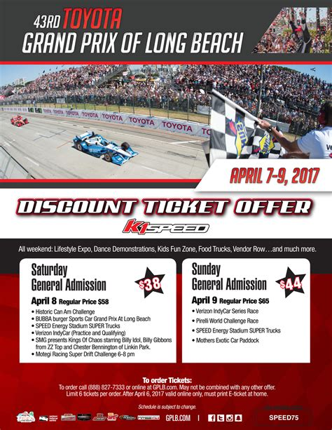 Test Drive Gift Card Offers 2017 Toyota - k1 speed discount ticket offer 43rd toyota grand prix of long beach