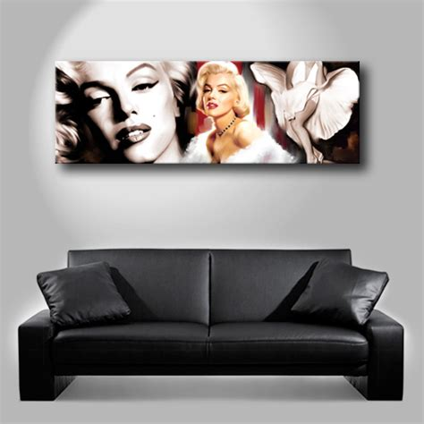 marilyn monroe couch marilyn monroe dvd movie portrait poster painting canvas