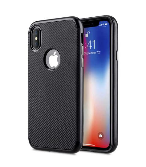 Apple Iphone X Leather Black carbonvim for apple iphone x black
