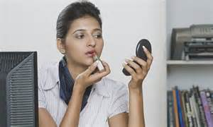 Daily Mail News Desk Contact by Is It Acceptable To Apply Make Up At Your Desk
