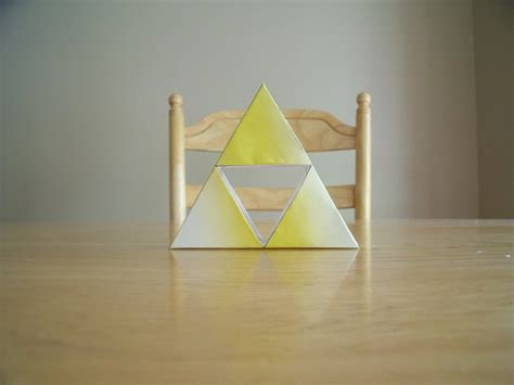 Triforce Papercraft - papercraft triforce by drawingdude1098 on deviantart
