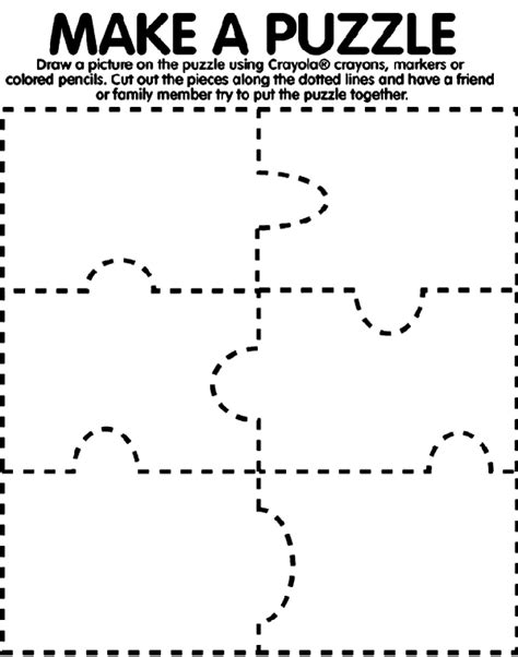 How To Make A Paper Puzzle - make a puzzle coloring page crayola