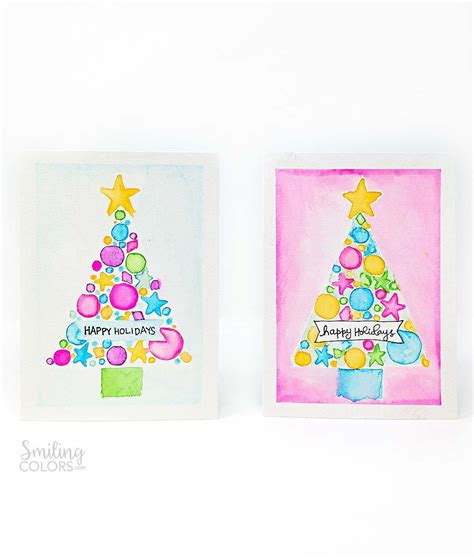 watercolor tutorial christmas watercolor christmas card tutorial that will make you want