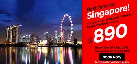 airasia singapore promo airasia thailand airlines online booking and promotions