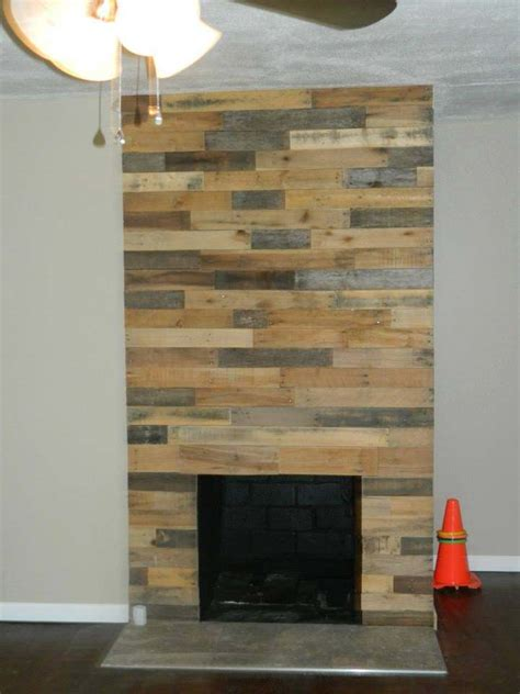 pallet wood fireplace wall pallet ideas 1001 pallets