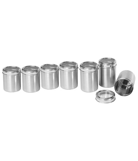 i can t find a canister set with the names sugar flour dynore stainless steel canisters dabba with see through