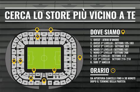 mappa juventus stadium ingressi juventus stadium domani inaugurati otto nuovi j store
