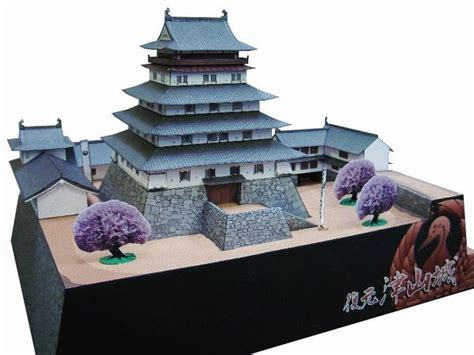 Papercraft Japan - tsuyama castle papercraft japanese architecture model kit