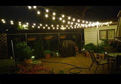 luminar outdoor string lights g40 globe edison bulb string light ul listed