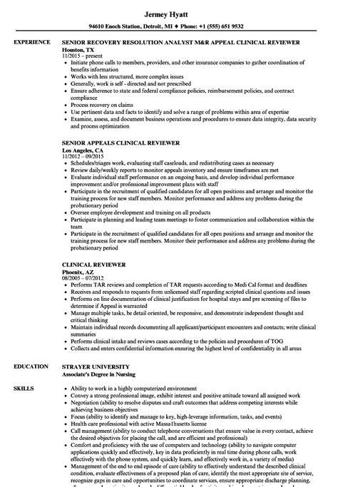 clinical reviewer resume samples velvet jobs