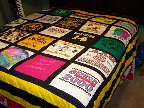 T Shirt Material Comforter by Baby Clothes Quilt